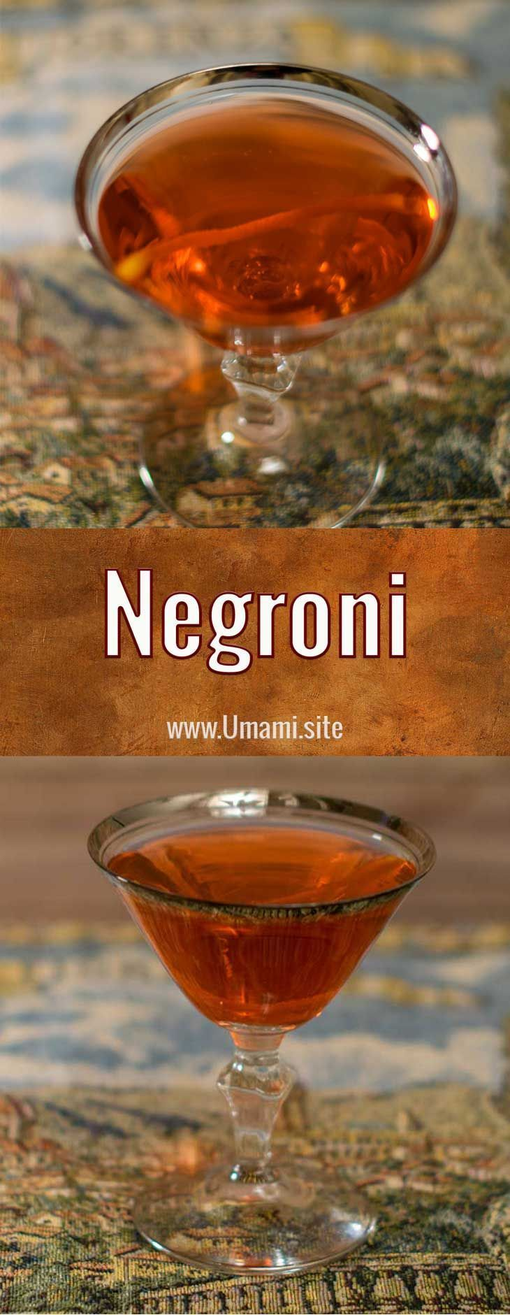 The Negroni is a classic Italian cocktail made with equal portions of gin, Campari, and sweet vermouth. #negroni #cocktail #recipe