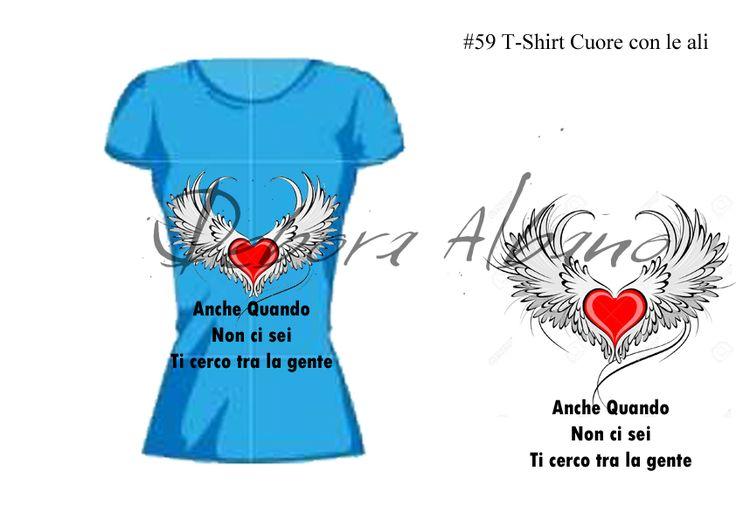#59 T-Shirt Cuore con le ali