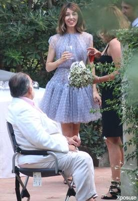 Sofia Coppola And Thomas Mars Wedding - She wore an ethereal lavender tulle dress made just for her by Azzedine Alaia