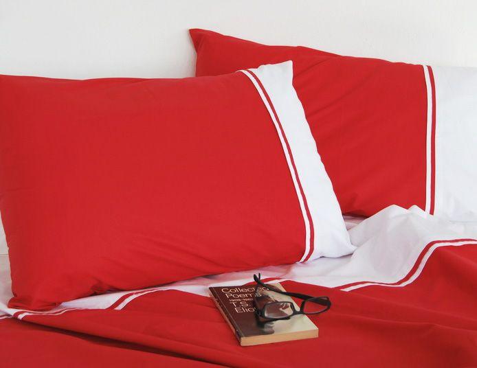 Lenjerie de pat din bumbac Valentini Bianco VKR20 Red