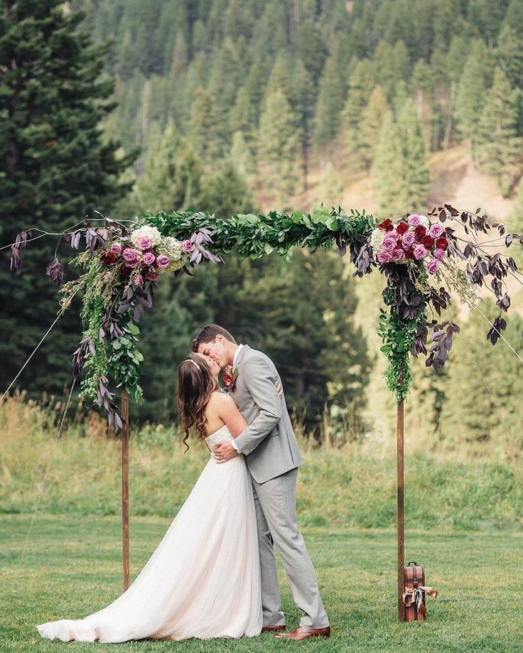 Kacie q kacieqphoto bride groom first kiss bozeman for Flower delivery bozeman mt