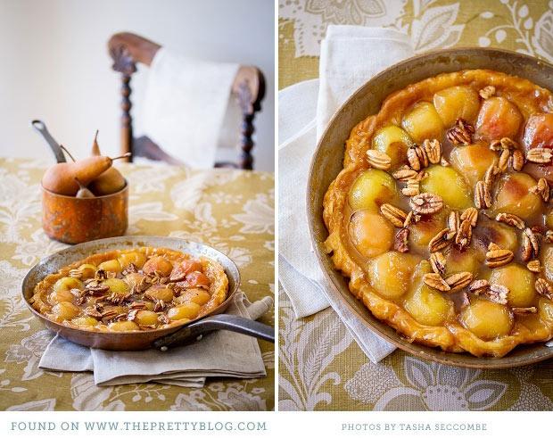 Pear and Pecan Tarte Tatin