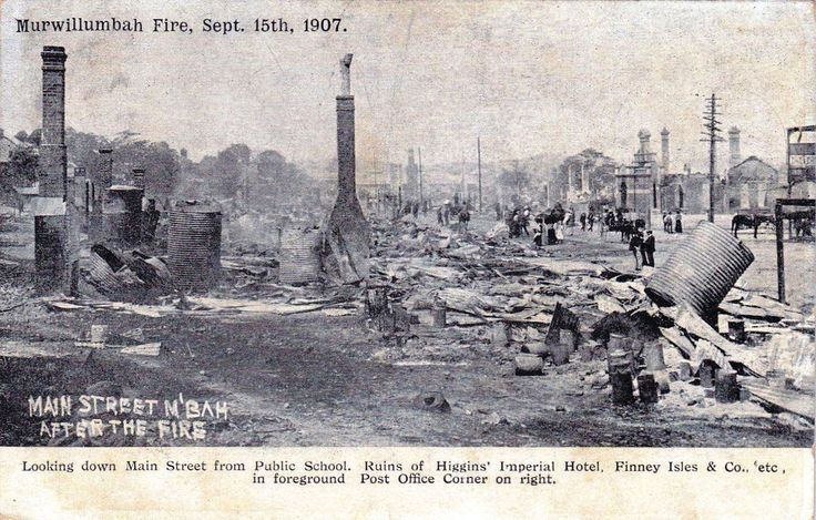 Murwillumbah Fire, Murwillumbah, New South Wales, 15 September 1907