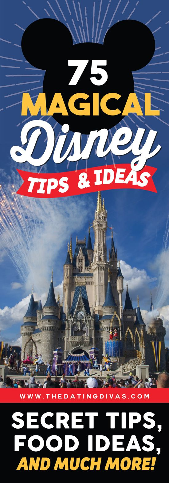 The ULTIMATE Disney vacation guide for families! Tons of secret tips, hacks, and celebration ideas to get you psyched for your upcoming Disney trip! www.TheDatingDivas.com