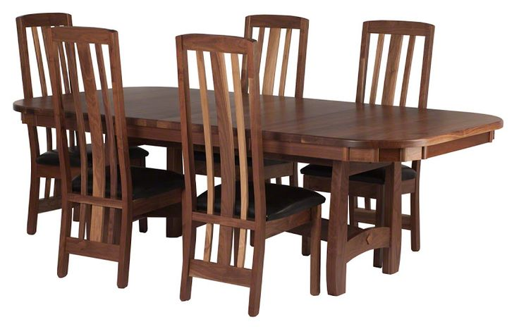 96 x 48 inch montreal table and montreal chairs in natural for Dining room tables montreal