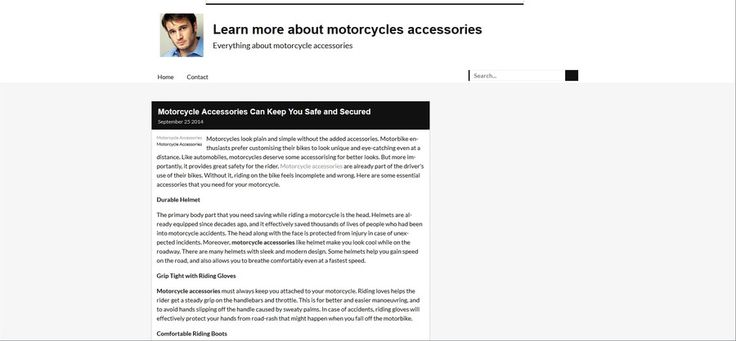 http://knowhow.over-blog.com/2014/09/motorcycle-accessories-can-keep-you-safe-and-secured.html Motorcycle Accessories If you are a motorcyclist, it is important to buy motorcycle accessories.