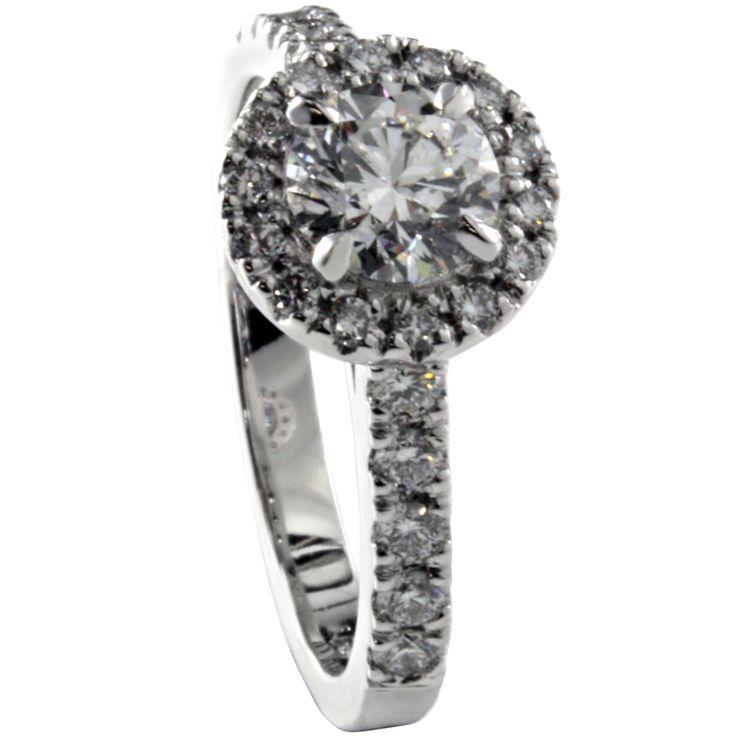 Halo four claw | Bakalian : BB Designer Jewellers, Sydney