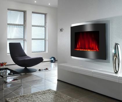 1500w Extra Large Wall Mounted Electric Fireplace With