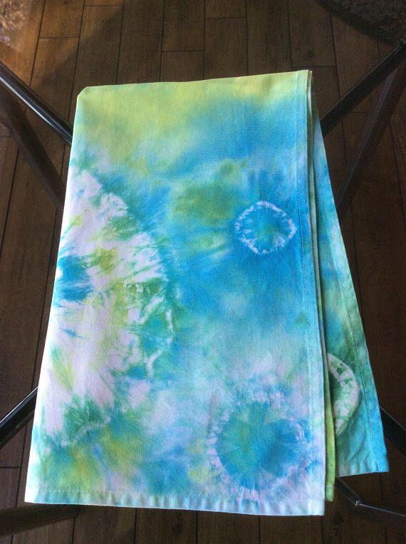 Tie Dye Dish Towel .  Tie Dyed Tea Towel