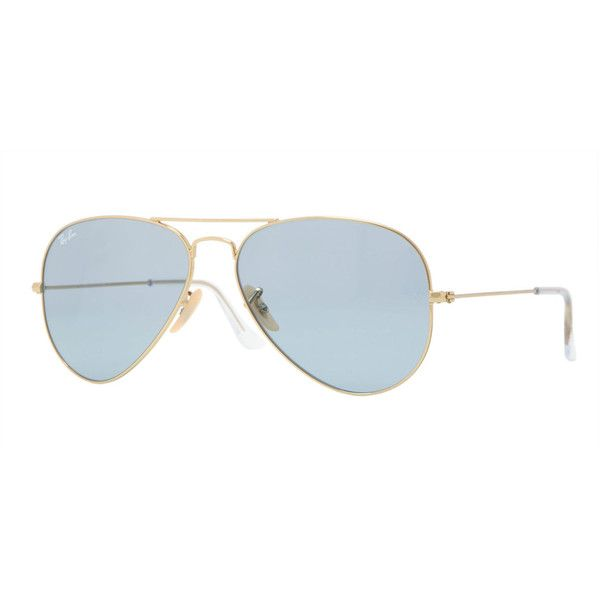 Ray-Ban Metal Polarized Aviator Sunglasses ($150) ❤ liked on Polyvore featuring accessories, eyewear, sunglasses, ray ban sunglasses, double bridge glasses, metal aviator sunglasses, nose pads glasses and thin sunglasses