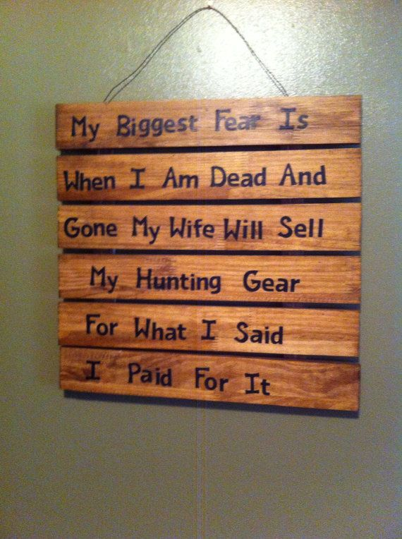 Funny hunting wife sign. on Etsy, $30.00
