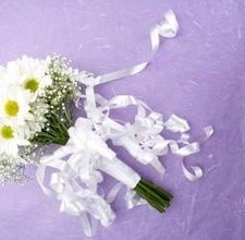 How to make a bridal shower ribbon bouquet from the wedding rehearsal.