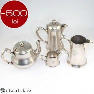 serviciu Christofle - Art Nouveau, pentru ceai si cafea. argintat. cca 1910 Venetia