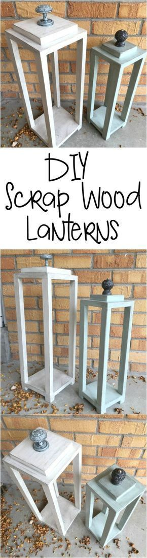 Make your own lanterns all from scrap wood. Great use of all that scrap wood laying around.