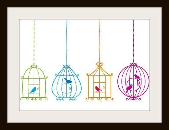Bird cage cross stit