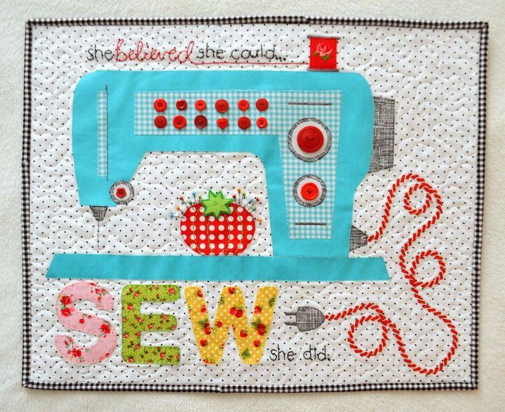 Sewing Machine mini quilt