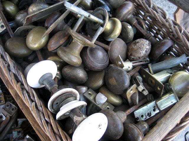 *Old door knobs at a flea market