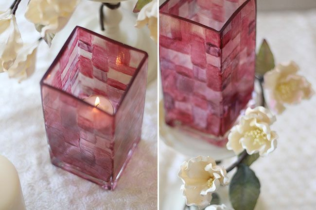 DIY Stained Glass: Crafty Stuff, Crafts Ideas, Glasses Votive, Glasses Vase, Diy Stained Glasses Vot, Mod Podge, Paintings Glasses Candlehold, Traditional Parties, Podge Rocks