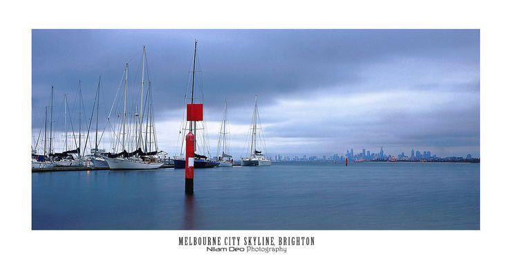 Melbourne Cityscape from Brighton Marina