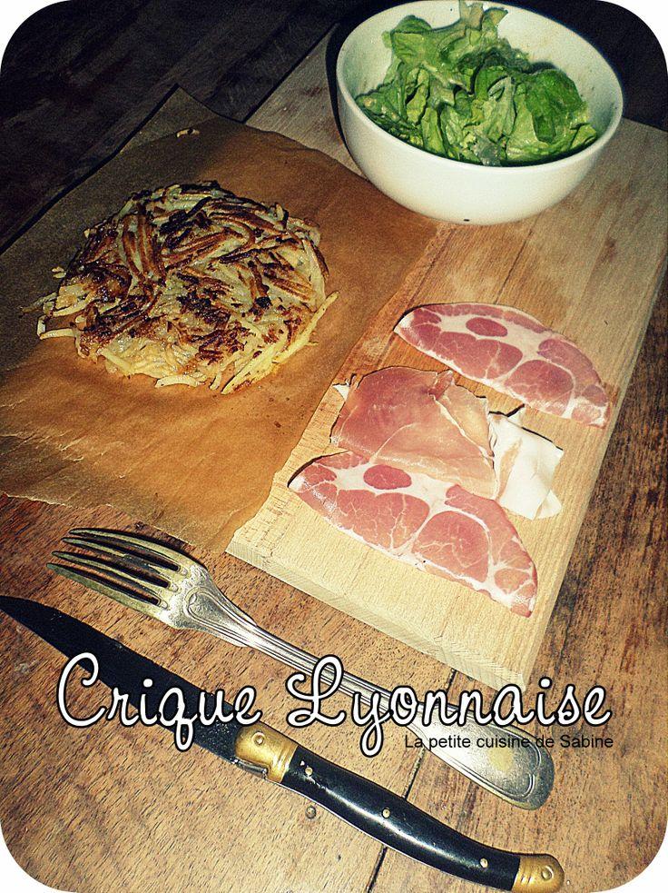 La crique Lyonnaise à base de pommes Ariane les Naturianes® par La petite cuisine de Sabine