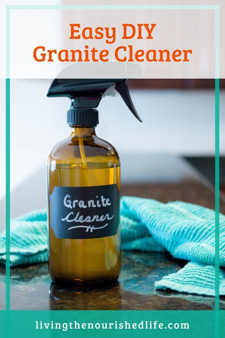 The Best Homemade Granite Cleaner 2 Ingredients The Nourished Life In 2020 Granite Cleaner Homemade Granite Cleaner Diy Cleaning Products Recipes