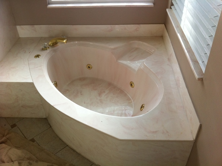 Ugly Cultured Marble Jacuzzi Tub Kitchen And Bath