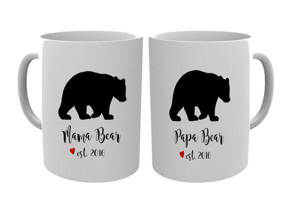 Papa Bear and Mama Bear Mugs/Parents by NoteWorthyStationery
