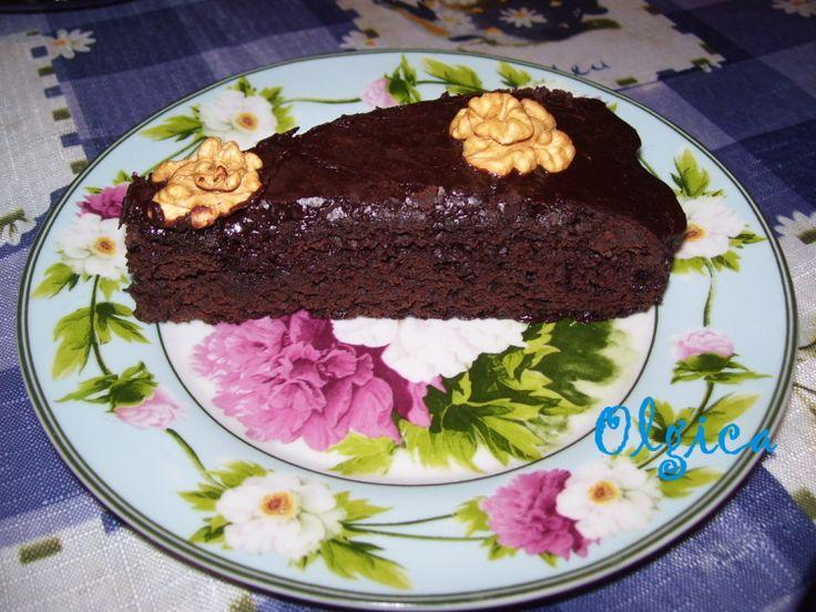 Мексиканский шоколадный пирог с перцем чили