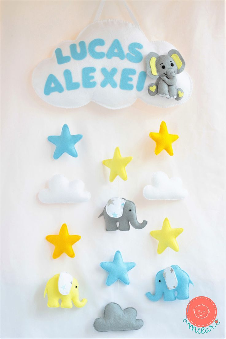 A personal favorite from my Etsy shop https://www.etsy.com/listing/521604727/elephant-baby-shower-stars-and-cloud