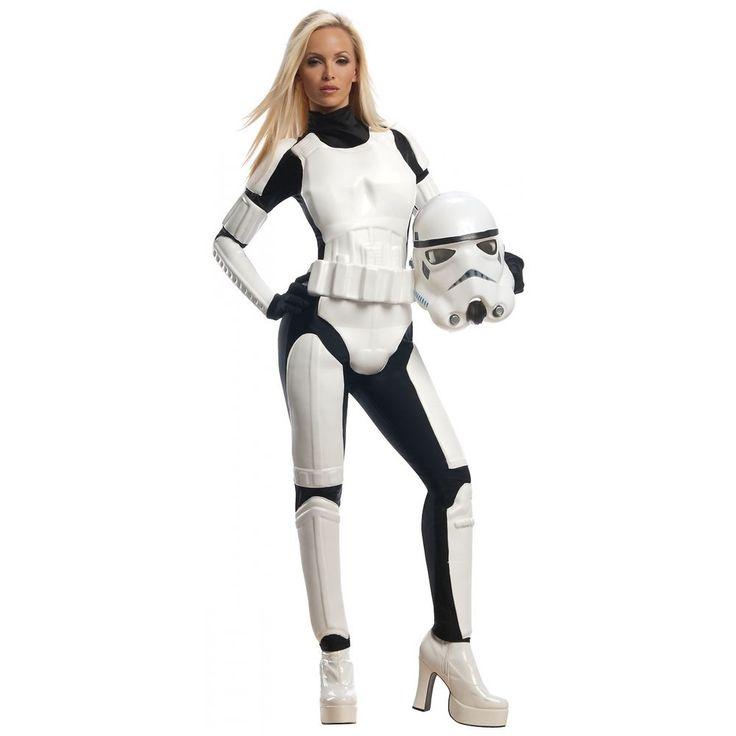 Female Stormtrooper Costume Adult Star Wars Halloween Fancy Dress…