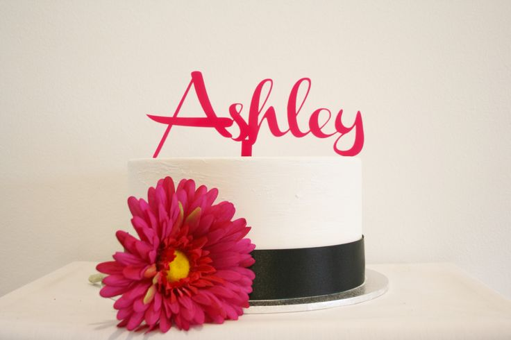 Personalised Pink Acrylic Cake Topper