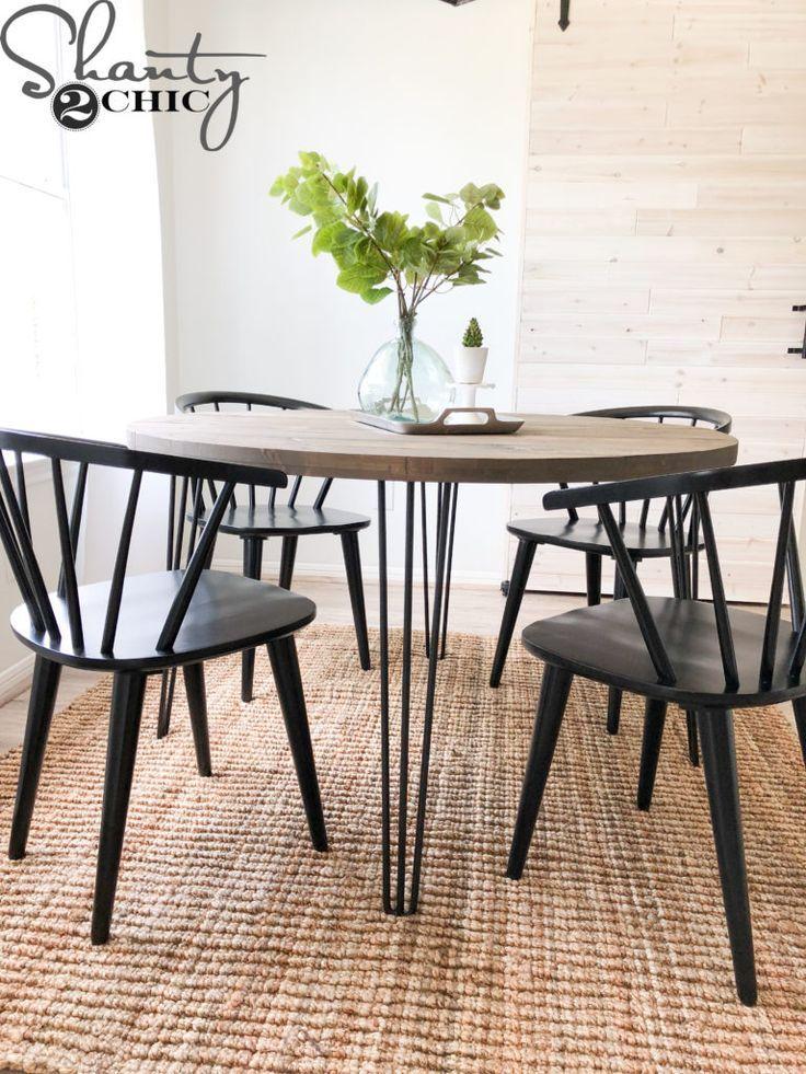 diy round hairpin table shanty s tutorials diy dining room table rh pinterest com