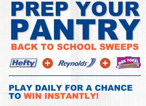 2,000 REYNOLDS CONSUMER PRODUCTS PRODUCT INSTANT WIN GAME PRIZES up to win! Score on these prize packs consisting of Reynolds products worth $30.92.