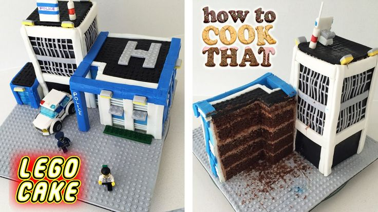 Lego City Police Station Cake :   How To Cook That w/ Ann Reardon - YouTube - 24 Jul 2015
