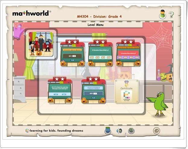 """Mathworld Division 4"" (Lessons.e-learningforkids.org)"