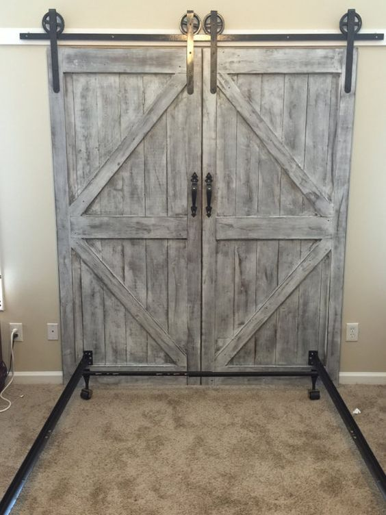 Custom made barn door headboard queen with by MakeItBuildItLoveIt