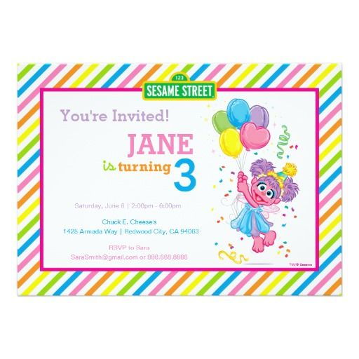 Best 400 happy birthday invitations images on pinterest birthday abby striped birthday 5x7 paper invitation card filmwisefo