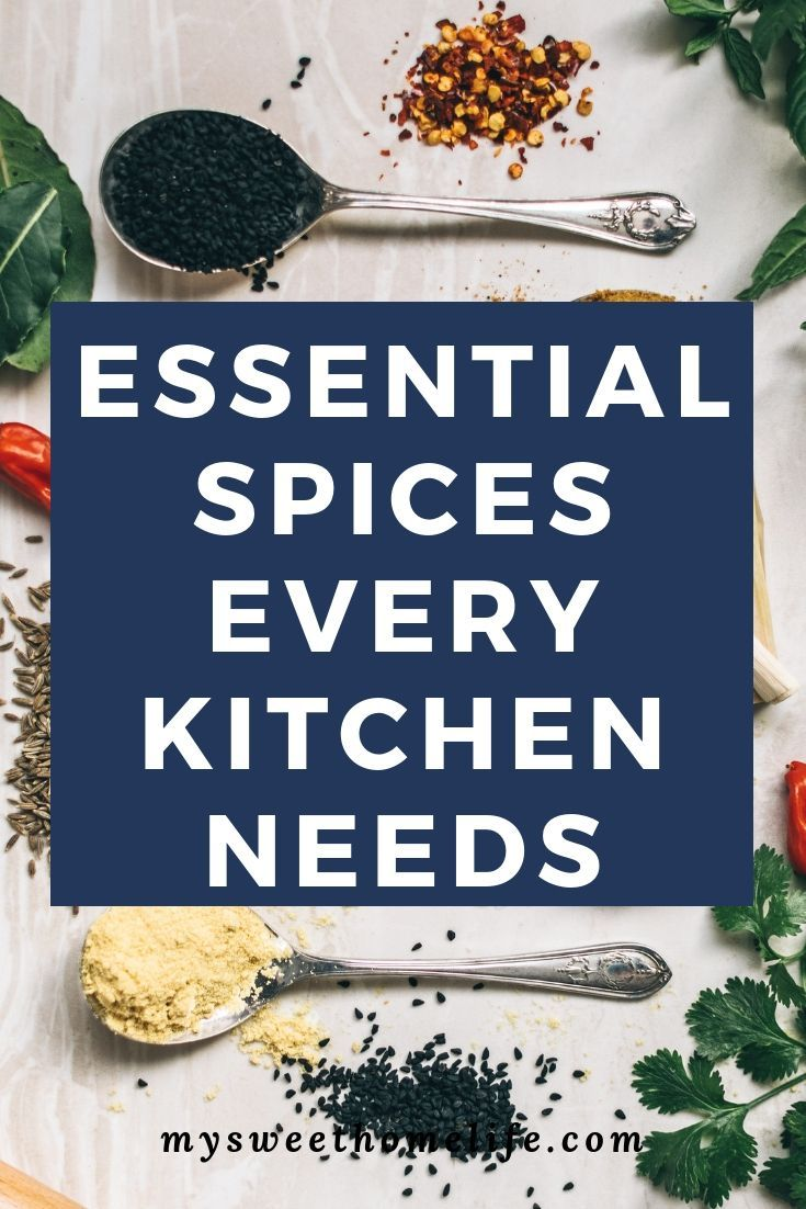 Essential herbs and spices for a well-stocked kitchen