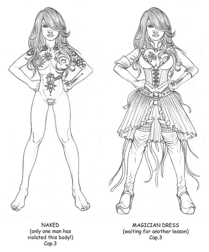 Character and Dress study - Scarlet the Witch - Pencil - 2014 - Copyright by Enrico Bettanin.