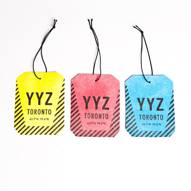 YYZ Tyvek Luggage Tags - Drake General Store - Our Brands