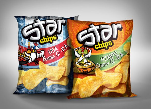 STARCHIPS packaging / characters on Behance