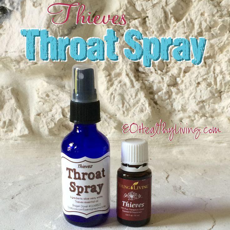 Diy thieves throat spray and everyday sanitizing spray