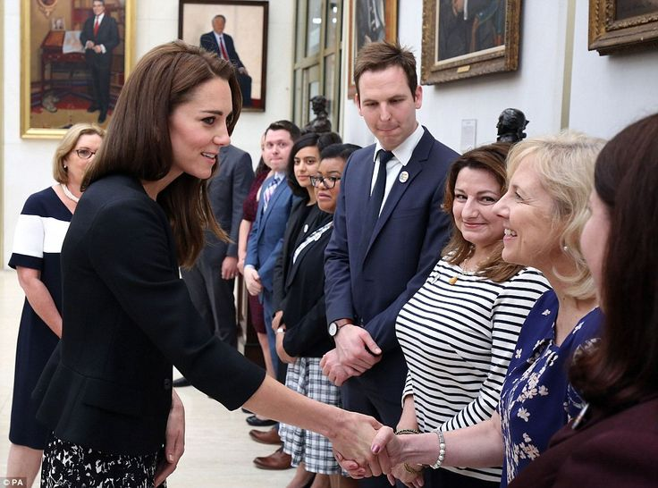 Despite the sombre occasion, Kate still managed to raise a smile from Embassy staff as she...