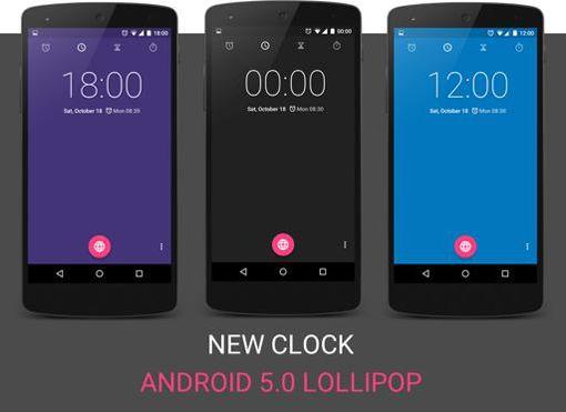 Jam Android 5.0 Lollipop Bisa Berubah Warna Secara Otomatis