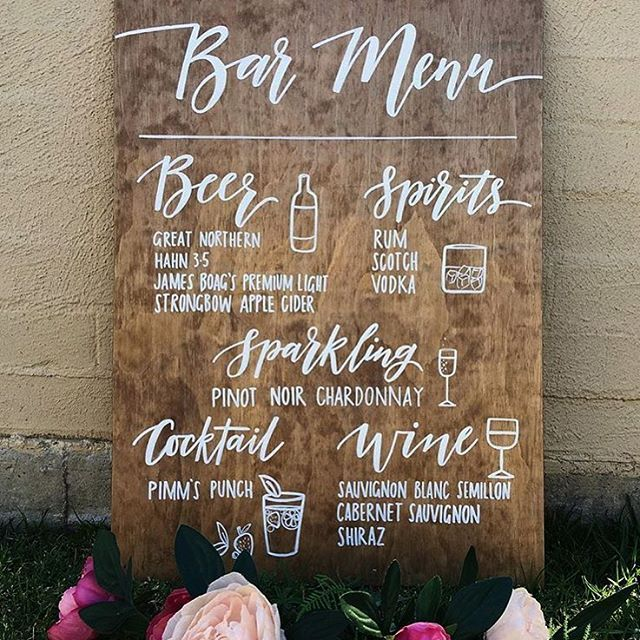 Best 25 Wedding bar signs ideas on Pinterest  Marriage hashtags Country wedding decorations
