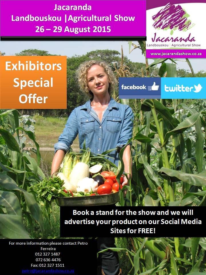 www.jacarandashow.co.za Come and Exhibit with us