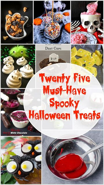 Herbivore Cucina: 25+ Must-Have Spooky Halloween Treats...A must have collection of treats that are PERFECT for Halloween and beyond! Are you ready for all the spooky recipes?  #halloween #spookytreats #seasonaldelights #boo #spookydesserts #cupcakes #dirtcups #spiders #owls #ghosts #holidayspecial #holidaysarehere