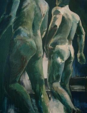 "Saatchi Online Artist Birgitta Bachmann; Painting, ""in the bathhouse"" #art"