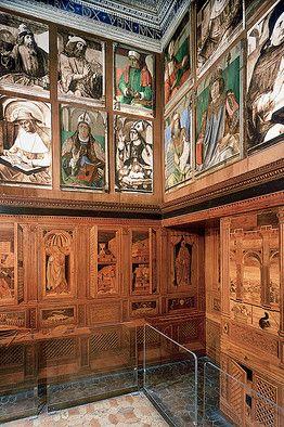 Urbino, the study of Federico da Montefeltro.