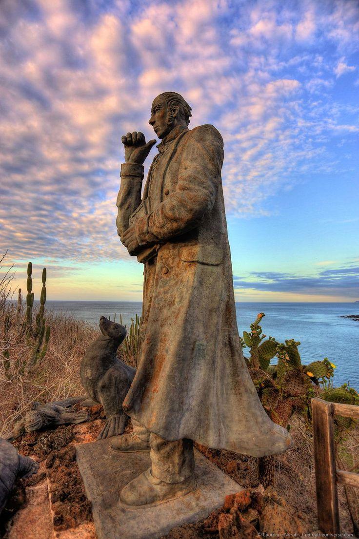 Darwin statue, San Cristobal, Galapagos Islands, Ecuador